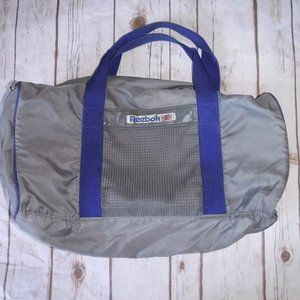 Vtg 80's REEBOK Gray Duffel Gym Bag